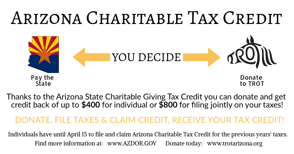 arizona tax credit showing amounts for single and couple donations