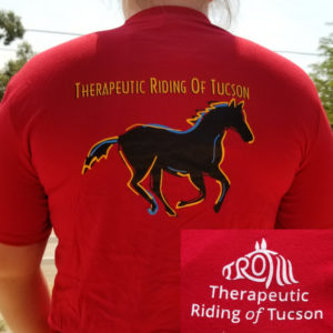 Back of red TROT shirt