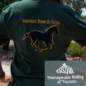 Back of green TROT shirt